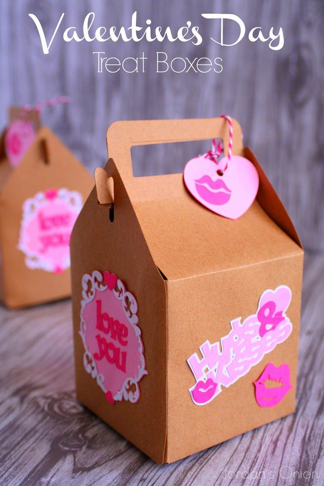 kraft valentine boxes