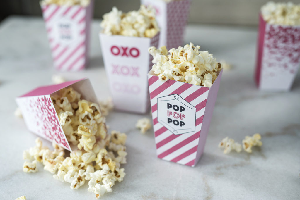 valentine popcorn boxes for party