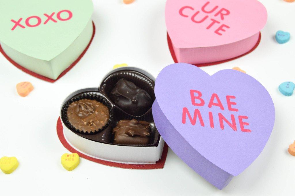 valentine boxes - diy heart shape
