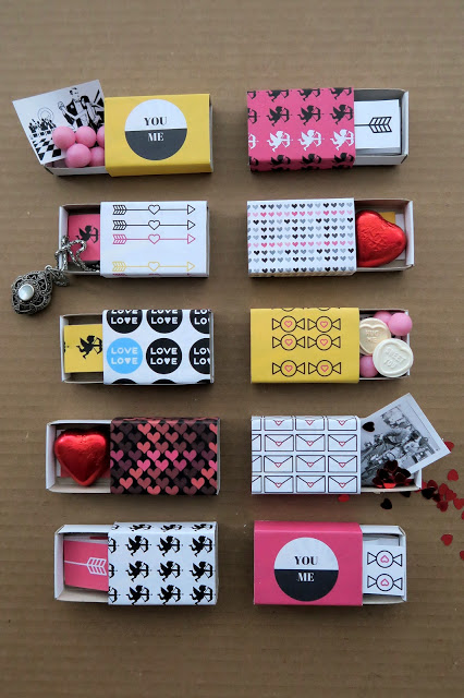 valentine boxes out of matchboxes