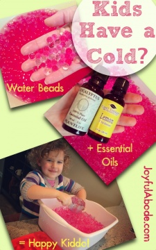 Spring Decor and Water Beads + Essential Oils for Kids With a Cold