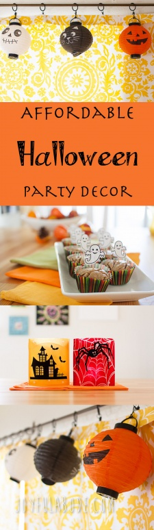 Frugal Halloween Party Decor and Costumes