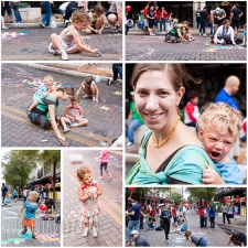San Antonio, TX – Artpace Chalk It Up, Riverwalk, Rainforest Cafe