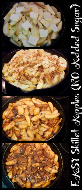 Easy Skillet Apples with No Sugar
