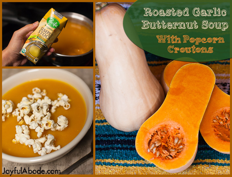Roasted Garlic Butternut Squash Soup