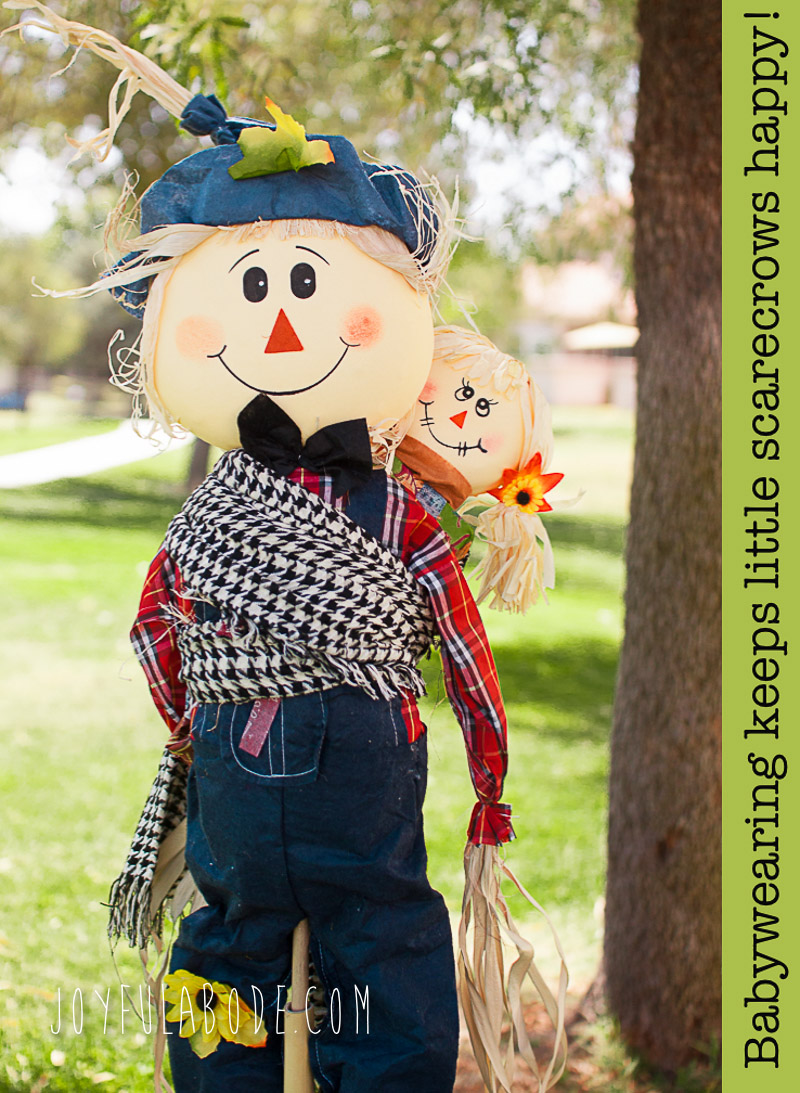 Babywearing PSA - Fall Happy Scarecrows