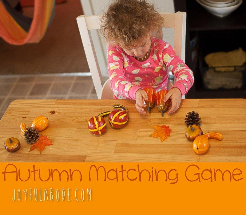 Autumn Matching Game Montessori