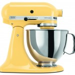 yellow kitchen aid mixer